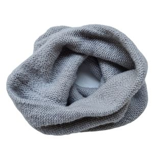 Acrylic Knitted Grey Cowl Snood Scarf